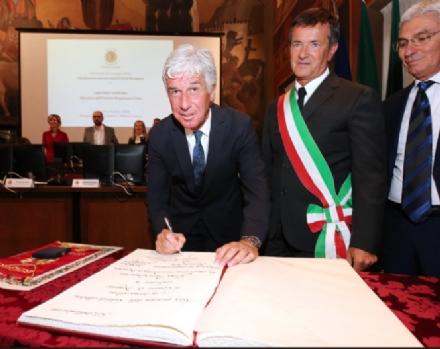 GRUGLIASCO - Mister Gian Piero Gasperini cittadino onorario di Bergamo