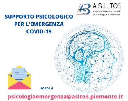 ASL TO3 - Sono state 298 le richieste di aiuto psicologico durante in mesi di epidemia