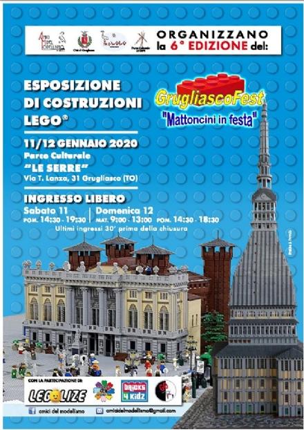 GRUGLIASCO - Torna la mostra dei Lego al «Grugliasco Fest: mattoncini in festa»