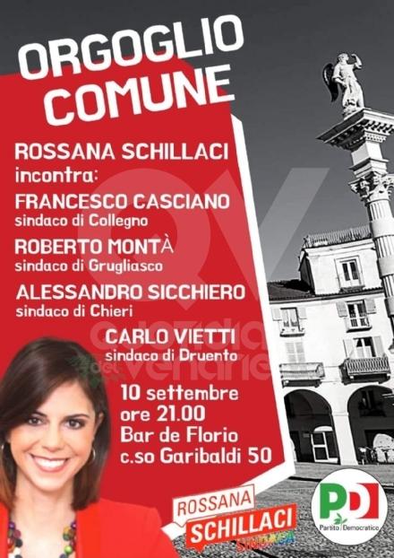 VENARIA ELEZIONI - Rossana Schillaci incontra i sindaci di Druento, Collegno, Grugliasco e Chieri