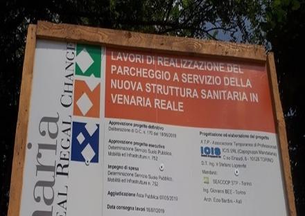 VENARIA - Partiti i lavori per la realizzazione del parcheggio del polo sanitario di via Don Sapino