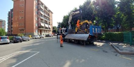 BORGARO - Nuovi marciapiedi vicino alle scuole Defassi e Carlo Levi