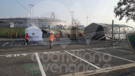 TORINO-VENARIA - Tamponi rapidi nel parcheggio dello stadio della Juve: si parte da sabato 14