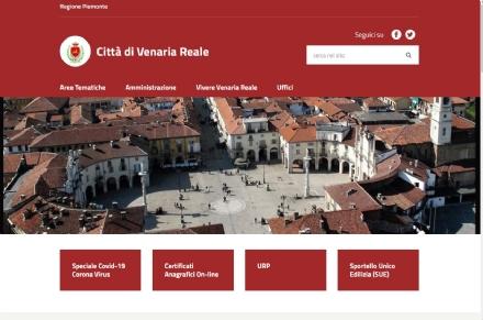 VENARIA - Comune sempre più al passo con i tempi: nuovo sito internet, sbarca lapp Municipium