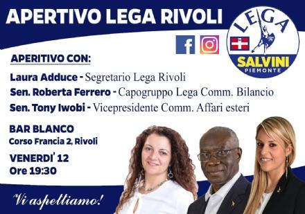 RIVOLI - ELEZIONI 2019: I senatori leghisti Ferrero e Iwobi a supporto del Carroccio e di Tragaioli