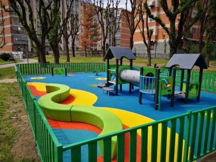 BORGARO - Domani linaugurazione della nuova area giochi del parco «Arcobaleno»