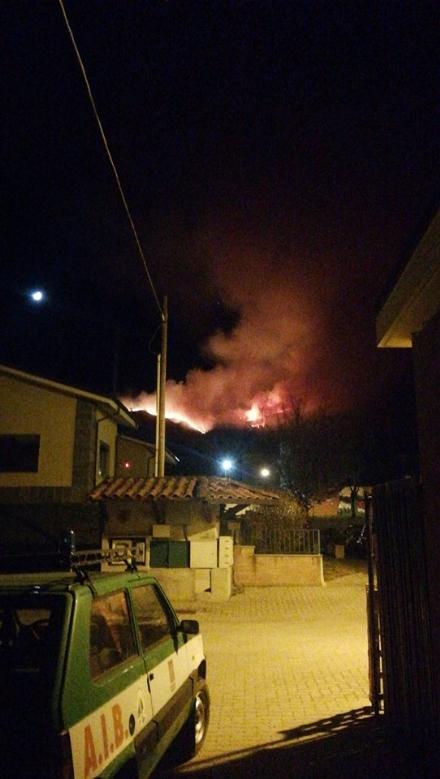 GIVOLETTO - La montagna ha ripreso a bruciare: squadre di nuovo in azione per evitare il peggio