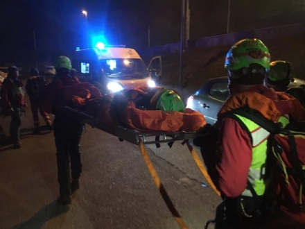 CASELETTE - Escursionista cade scendendo dal Musinè: recuperata dal Soccorso Alpino