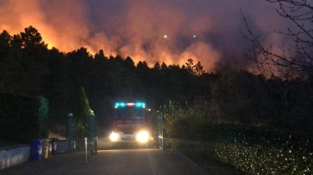 LA CASSA-GIVOLETTO-VARISELLA - Incendi boschivi: altra notte di grande paura