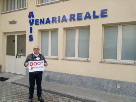 VENARIA - LAvis taglia il traguardo delle 800 donazioni in questo 2017