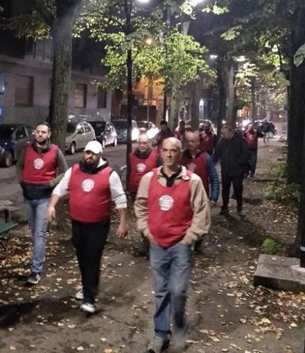 VENARIA - Passeggiata dei militanti di Casa Pound per chiedere più sicurezza in città