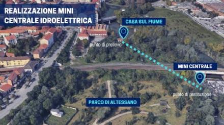 VENARIA - Una mini centrale idroelettrica in città: iniziati in questi giorni i lavori