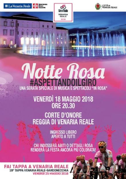 VENARIA - #AspettandoIlGiro: Questa sera la «Notte Rosa» in Reggia