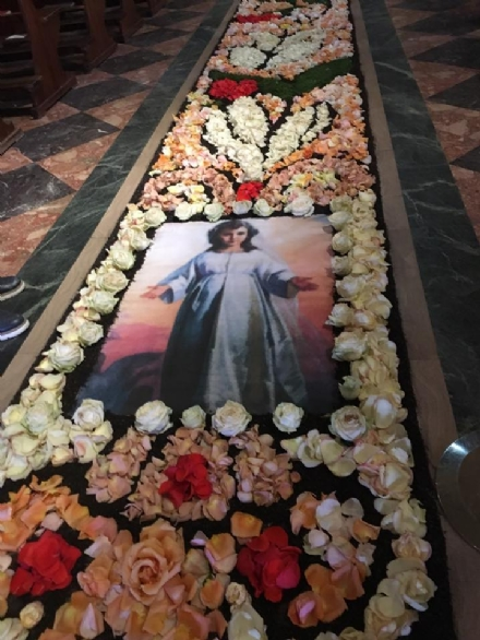 VENARIA - Questa sera a SantUberto linaugurazione dellInfiorata dedicata alla Madonna