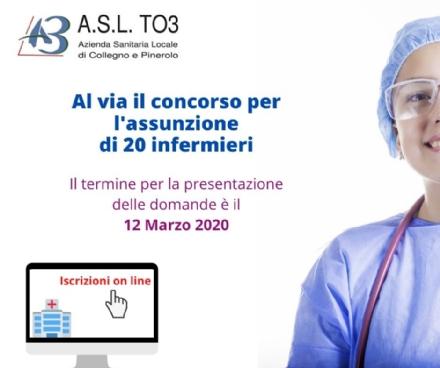 SANITA E LAVORO - LAsl To3 cerca 20 infermiere/i: tutte le informazioni utili
