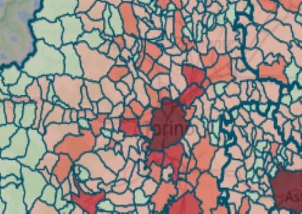 VIRUS - I POSITIVI NEI COMUNI: I numeri scendono drasticamente, aumenti solo in tre cittadine