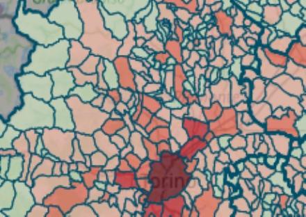 VIRUS - I POSITIVI NEI COMUNI: In calo o stabili in quasi tutte le città. Rivoli ancora sopra i 100