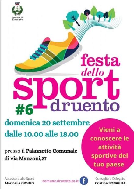 DRUENTO - Torna la Festa dello Sport: sarà tutta allinterno del Palazzetto di via Manzoni