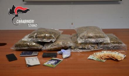 FIANO-ROBASSOMERO-CAFASSE - Arrestato loperaio con il vizio dello spaccio: 3 kg di droga in casa