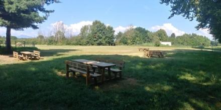 BORGARO - Apre la nuova area pic-nic nel parco Chico Mendes