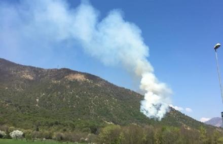 CASELETTE-VAL DELLA TORRE - Un vasto incendio distrugge i boschi del Musinè - FOTO