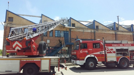MAPPANO - Incendio nellarea industriale di via Cottolengo