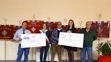 VENARIA - LAvis dona alla città quasi 4mila euro per lacquisto di nuovi giochi per i bambini