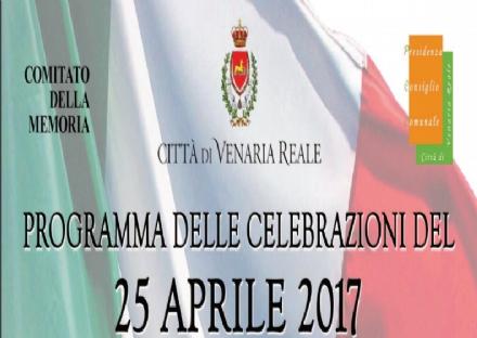 VENARIA - Domani le prime commemorazioni per il 25 aprile, Festa di Liberazione