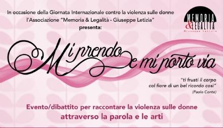 VENARIA - «Mi prendo e mi porto via» per dire «no» alla violenza sulle donne