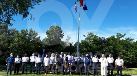 VENARIA - La bandiera dei marinai torna a sventolare nel cielo della Reale - FOTO