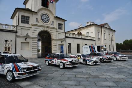 VENARIA - Davanti alla Reggia ecco le Lancia Delta che hanno fatto la storia dei mondiali rally