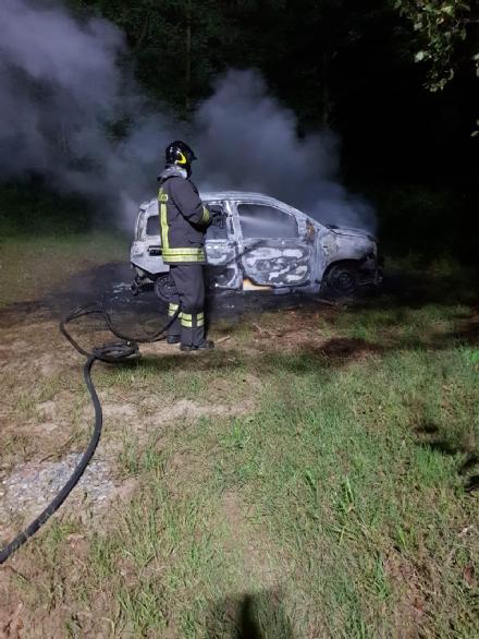 FIANO-LA CASSA - Panda rubata data alle fiamme nei boschi