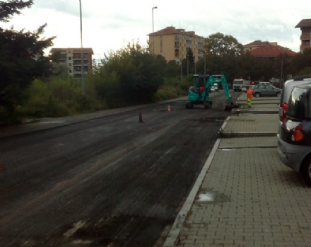 VENARIA - Iniziati i lavori di rifacimento delle strade dopo la posa della fibra ottica
