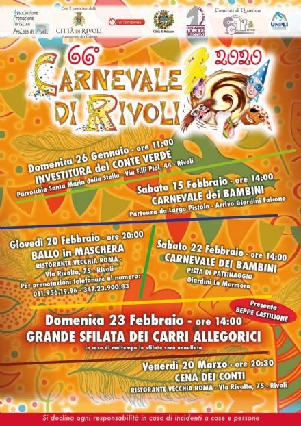 RIVOLI - Coronavirus, il 66esimo Carnevale è stato annullato