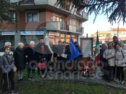 COLLEGNO - Commemorati i partigiani al cippo di corso Francia