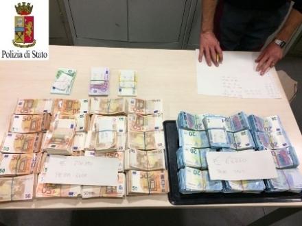 CRONACA - Sequestrati oltre 330mila euro in contanti: erano nascosti in una Bmw