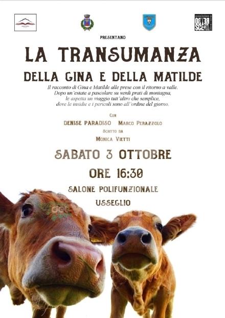 VENARIA-USSEGLIO - La transumanza e la patata negli spettacoli di Mnemosime e Retroscena