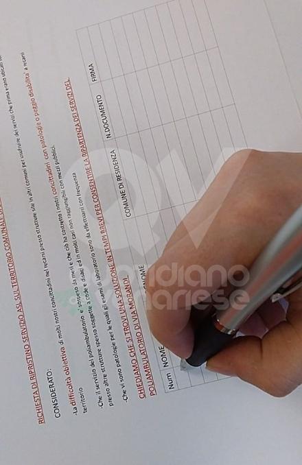 DRUENTO - Mille firme raccolte per il ripristino dei servizi Asl nel poliambulatorio di via Morandi