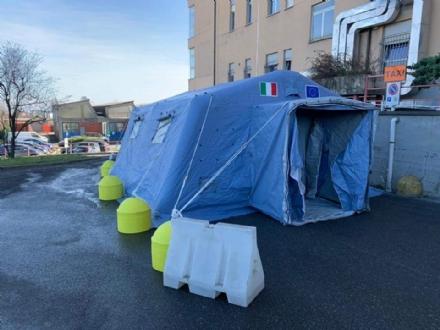 CORONAVIRUS - Allospedale di Rivoli e al Polo Sanitario di Venaria arriva la tenda pre-triage