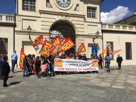 VENARIA - I lavoratori della Reggia hanno aderito allo sciopero del I Maggio, Festa dei Lavoratori