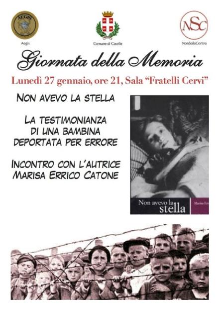 CASELLE - Giorno della Memoria: in Sala Cervi si racconta la storia di Marisa, deportata per errore
