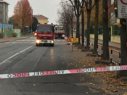 MAPPANO - Fuga di gas in via Dalla Chiesa: chiusa al traffico larea