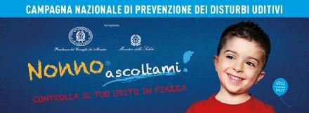 VENARIA - In piazza Vittorio arriva «Nonno Ascoltami», campagna di sensibilizzazione per i problemi delludito