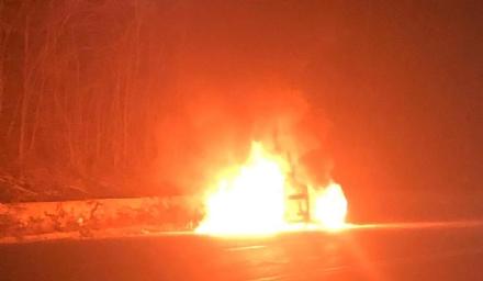 CASELLE-LEINI - Auto a fuoco lungo la ex statale 460: incendio spento dai pompieri di Caselle