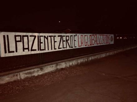 VENARIA - «Il paziente zero è la globalizzazione»: blitz di Casapound in città