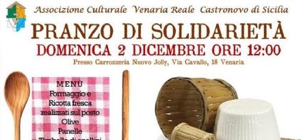 VENARIA - Tutto esaurito per il «Pranzo della Solidarietà» in favore di Castronovo di Sicilia