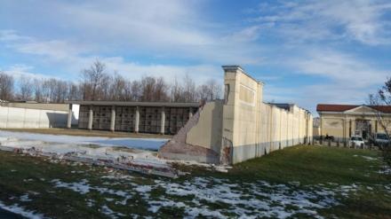 FIANO - Crollo muro del cimitero, il sindaco Casale promette: «lavori in tempi rapidi»
