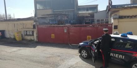 BORGARO - Stoccaggio illecito di rifiuti in via Cadorna: denunciati i titolari di unazienda