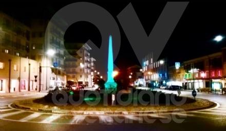 GIORNATA MALATTIE RARE - L Obelisco di corso Francia si colora di verde