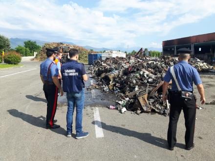 DRUENTO - Incendio al Cidiu: i carabinieri sequestrano trecento metri cubi di rifiuti - VIDEO